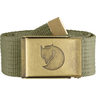 Fjallraven Canvas Brass 4cm Web Belt - Green
