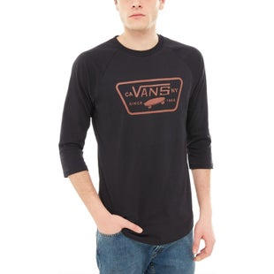 Vans Full Patch Raglan LS T-Shirt - Black Sequoia