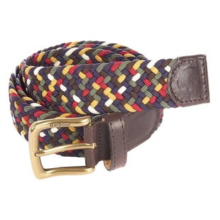 Barbour Tartan Coloured Stretch Web Belt - Classic