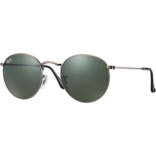 Ray-Ban Round Metal Camouflage Sunglasses - Gunmetal Green Classic