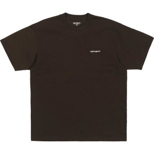Carhartt Script Embroidery T Shirt - Tobacco White