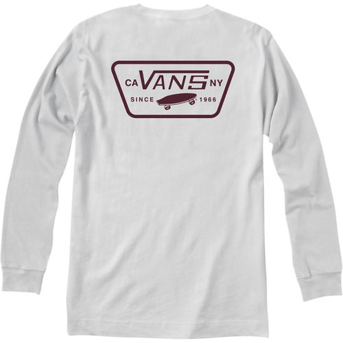 Vans Full Patch Back LS T-Shirt - White Port Royale