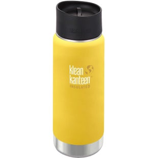 Klean Kanteen Vacuum Insulated Wide 473ml with Cafe Cape 2.0 Flask - Lemon Curry