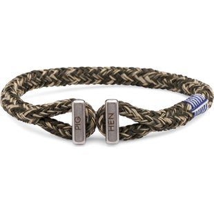 Pig and Hen Icy Ike Bracelet - Army Sand Silver
