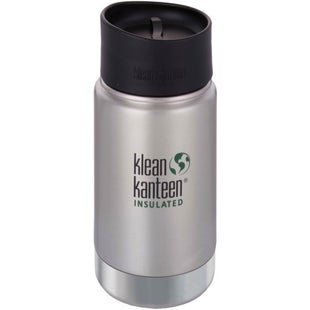 Klean Kanteen Vacuum Insulated Wide 355ml with Cafe Cape 2.0 Flask - Brushed Stainless