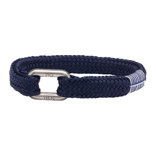 Pig and Hen Limp Lee Bracelet - Navy Silver