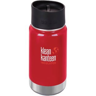 Klean Kanteen Vacuum Insulated Wide 355ml with Cafe Cape 2.0 Flask - Mineral Red