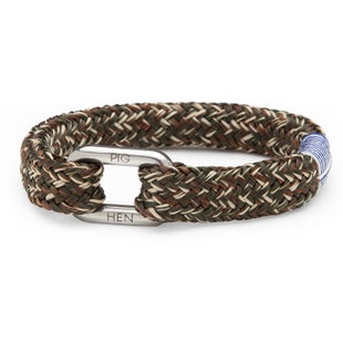 Pig and Hen Limp Lee Bracelet - Army Brown Sand Silver