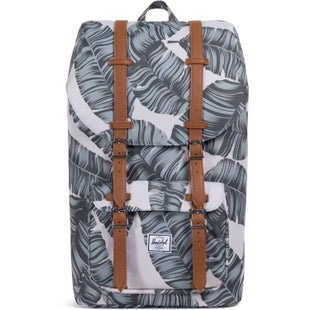Herschel Little America Backpack - Silver Birch Palm Tan Synthetic Leather