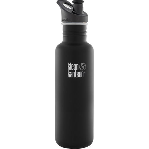 Klean Kanteen Classic 800ml With Sport Cap Water Bottle - Shale Black