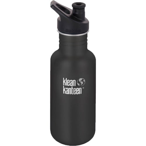 Klean Kanteen Classic 532ml With Sport Cap Water Bottle - Shale Black