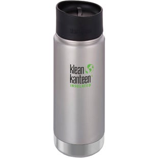 Klean Kanteen Vacuum Insulated Wide 473ml with Cafe Cape 2.0 Flask - Brushed Stainless