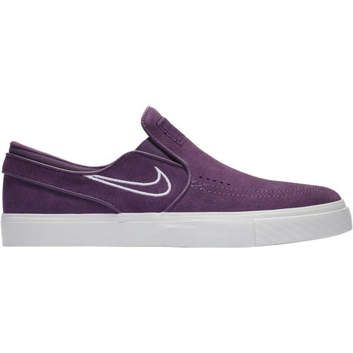 Nike SB Zoom Stefan Janoski Suede Slip On Shoes - Pro Purple White Barely Grey Grey