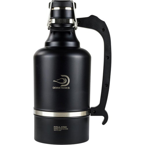 Drinktanks 128oz Insulated Growler Flask - Obsidian
