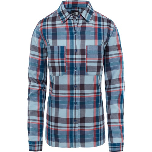 North Face Castleton Ladies Shirt - Dusty Blue Sierra Plaid