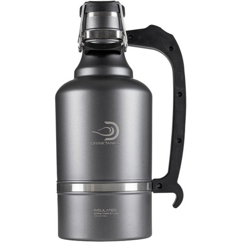 Drinktanks 128oz Insulated Growler Flask - Gunmetal