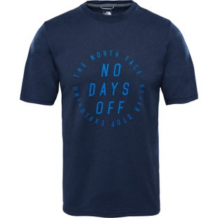 North Face MA Graphic Reaxion Amp Crew T Shirt - Urban Navy Heather Turkish Sea