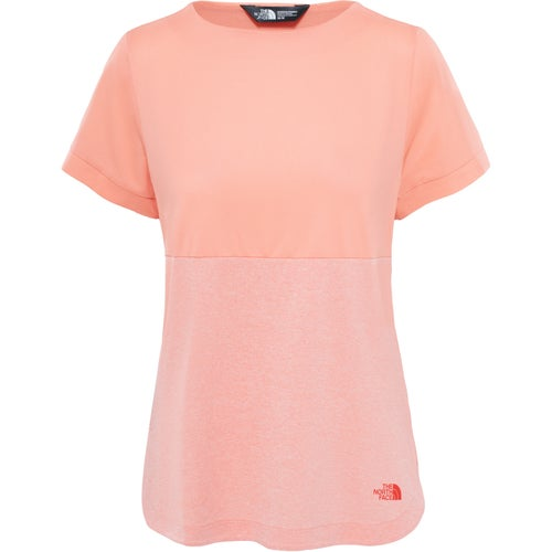North Face Inlux Three Quarter Ladies T Shirt - Desert Flower Orange