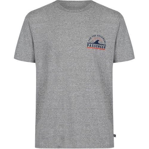 Passenger Clothing Tripped Out T Shirt - Grey Marl