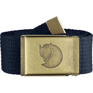 Fjallraven Canvas Brass 4cm Web Belt - Dark Navy