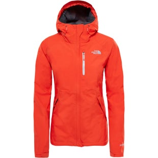 North Face Dryzzle Ladies Jacket - Fire Brick Red High Rise Grey