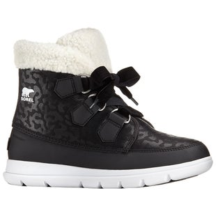 Sorel Explorer Carnival Ladies Boots - Black White