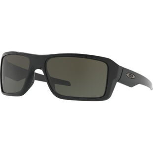 Oakley Double Edge Sunglasses - Matte Black ~ Dark Grey