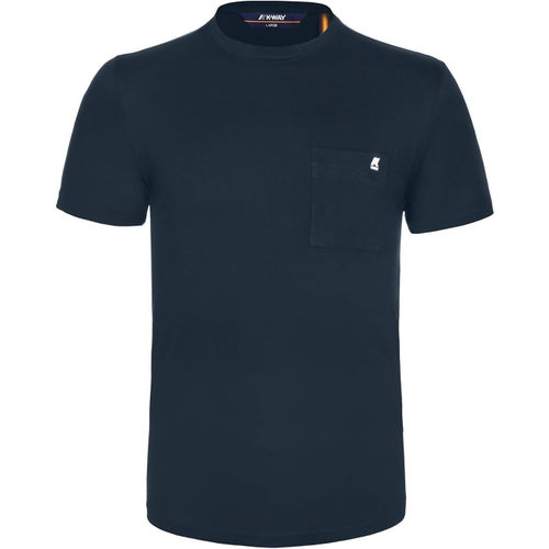 K-Way Elias Pocket Tee T Shirt - Blue Depth