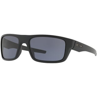 Oakley Drop Point Sunglasses - Matte Black ~ Grey