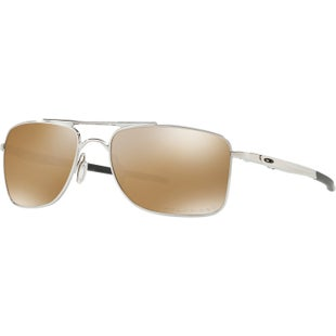 Oakley Gauge 8 Polarised Sunglasses - Polished Chrome ~ Tungsten Iridium