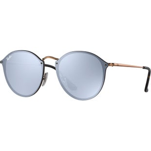 Ray-Ban Blaze Round Sunglasses - Copper Dark Violet Mirror