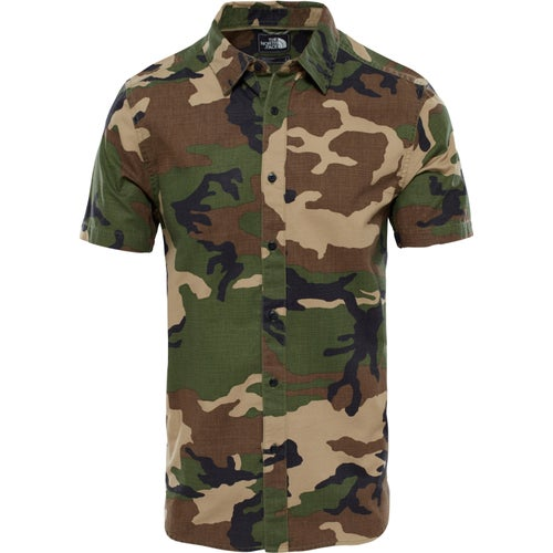 North Face Pursuit Shirt - Terrarium Green camo