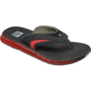 Reef Boster Sandals - Black Red