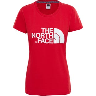 North Face Easy Ladies T Shirt - TNF Red