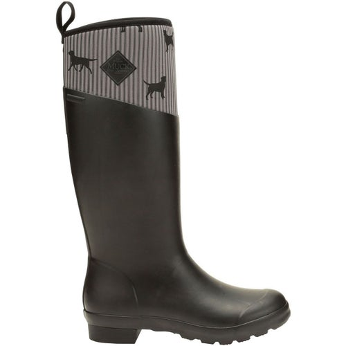 Muck Boots Tremont Tall Emily Bond Print Ladies Wellies - Black Dog Print