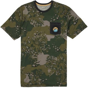 Burton Fox Peak Active T Shirt - Forest Night Hawaiian