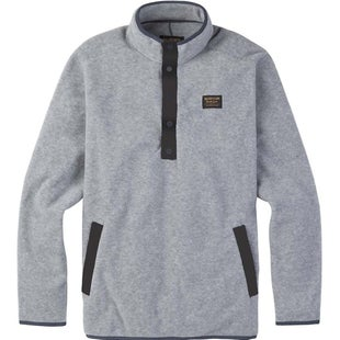 Burton Hearth Anorak Fleece - Grey Heather