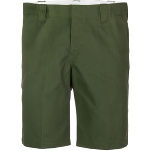 Dickies 11 Inch Slim Straight Work Walk Shorts - Olive Green