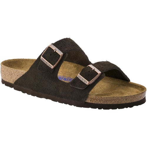 Birkenstock Arizona Suede Soft Footbed Sandals - Mocca