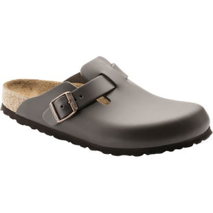 Birkenstock Boston Smooth Leather Slip On Shoes - Dark Brown
