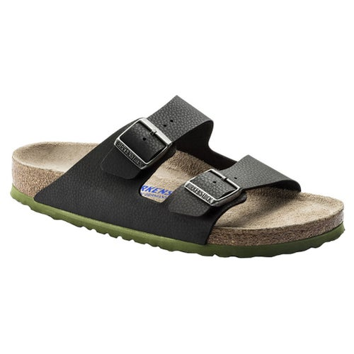 Birkenstock Arizona Birko Flor Soft Footbed Sandals - Desert Soil Black
