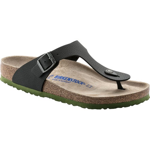 Birkenstock Gizeh Birko Flor Soft Footbed Sandals - Desert Soil Black