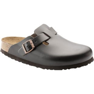 Birkenstock Boston Soft Footbed Smooth Leather Slip On Shoes - Brown