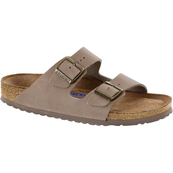2265ba1cc Birkenstock. Birkenstock Arizona Nubuck Leather Soft Footbed Sandals - Steer  Taupe