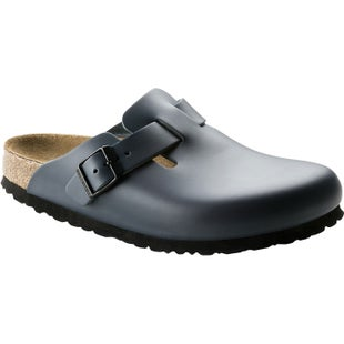 Birkenstock Boston Smooth Leather Slip On Shoes - Blue