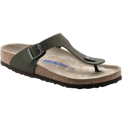 Birkenstock Gizeh Birko Flor Soft Footbed Sandals - Desert Soil Green