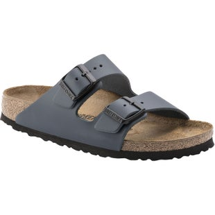 Birkenstock Arizona Smooth Nubuck Leather Sandals - Blue