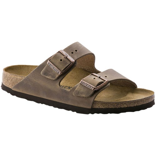 Birkenstock Arizona Oiled Leather Soft Footbed Narrow Sandals - Tobacco Brown