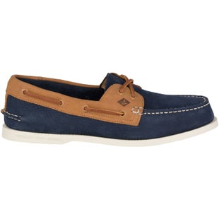 Sperry Authentic Original 2 Eye Washable Slip On Shoes - Navy Tan