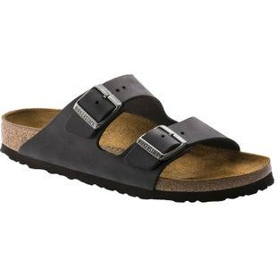 Birkenstock Arizona Oiled Leather Narrow Ladies Sandals - Black